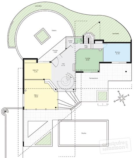 bureau wenge maison d 39 architecte 1 dé du plan de maison d