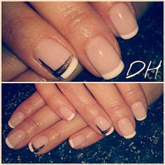 black manucure polka dot pink bow nails nails design ongles laval ongles