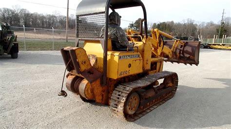john deere  track loader  winch cc equipment youtube