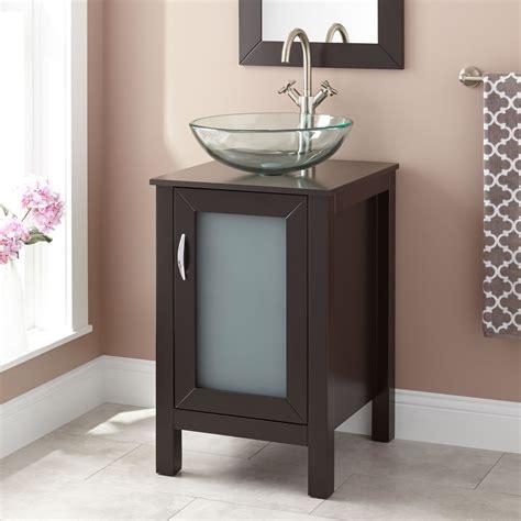 claxton vessel sink vanity espresso bathroom