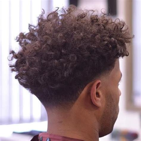 new hairstyle curly taper fades