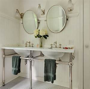 bathroom beadboard cottage bathroom crisp architects With what kind of paint to use on kitchen cabinets for metal wall art mirrors