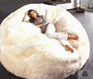 giant sheepskin bean bag chair large jumbo filled With biggest bean bag bed