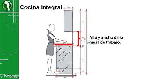 diseno de cocinas integrales medidas de los muebles  de