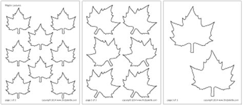 leaf cut out template leaves printable templates coloring pages firstpalette