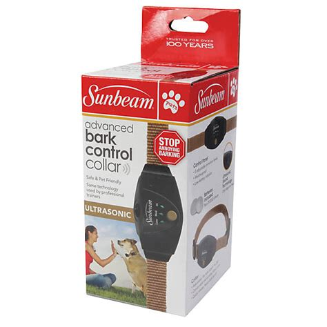 sunbeam advanced ultrasonic bark control dog collar dog