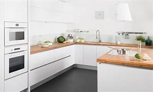 Cuisine Blanche Plan De Travail Gris : cuisine blanc laqu plan de travail gris ~ Melissatoandfro.com Idées de Décoration