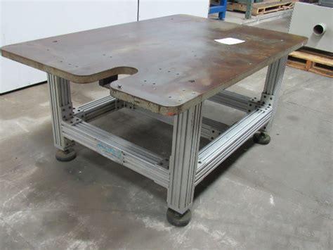 top steel fabrication machine base welding table