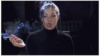 Woman Pretty Sasha Smokes Smokers Usa