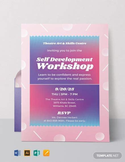 workshop invitation templates word psd ai eps
