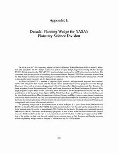 Appendix E: Decadal Planning Wedge for NASA's Planetary ...