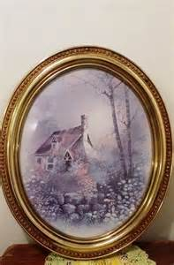 Home Interior Framed Vintage Home Interior Cottage With Oval Gold Frame