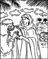 Coloring Rebecca Isaac Wife Genesis Rebekah Bible Character Donating Bill Thanks sketch template