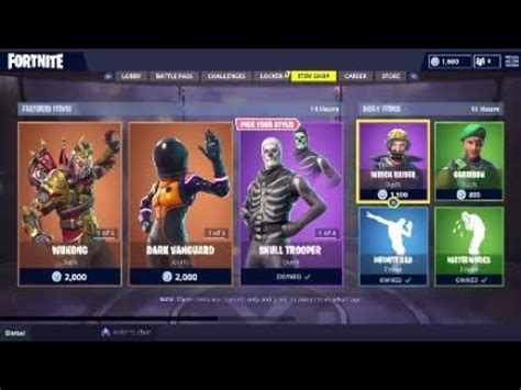skull trooper   item shop  october fortnite