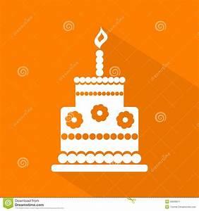 Birthday Cake Icon, Vector Cartoon Vector   CartoonDealer ...