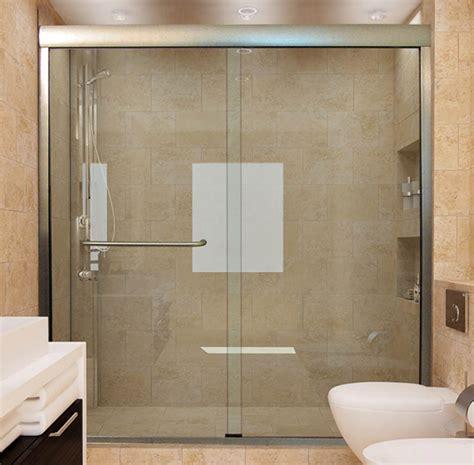 custom sliding glass shower doors dulles glass  mirror