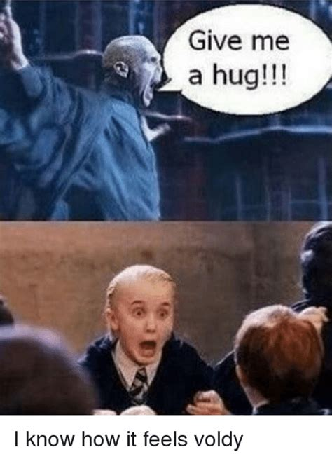 Give Me A Hug Meme - give me a hug i know how it feels voldy meme on me me