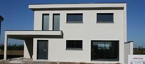Toiture Terrasse Inaccessible : maison contemporaine toiture terrasse en porte faux saint priest 69 gentillon ma trise ~ Melissatoandfro.com Idées de Décoration