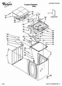 Whirlpool Model Wtw6500ww1 Residential Washers Genuine Parts