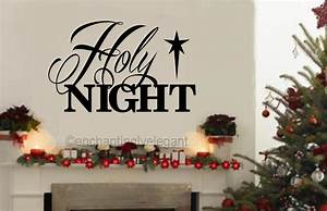 Holy night vinyl decal wall sticker words letters