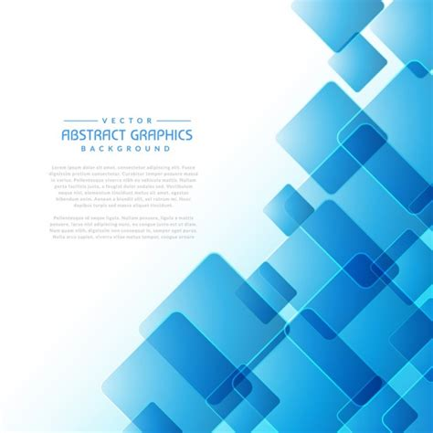 Abstract Blue Shapes Background by Abstract Background With Blue Square Shapes Vector Free