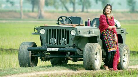 Punjabi Model With Jeep Car Wallpaper 04733