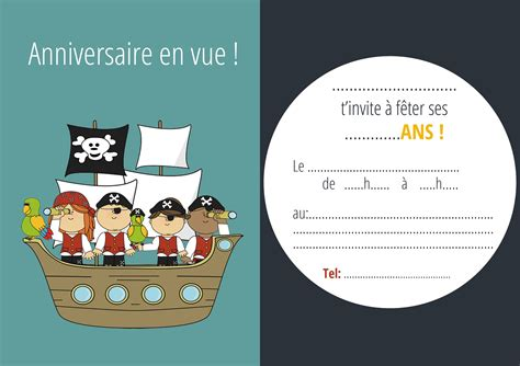 invitation anniversaire pirate invitation anniversaire