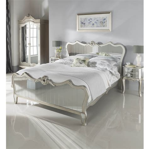 kingsize argente mirrored bed glass furniture