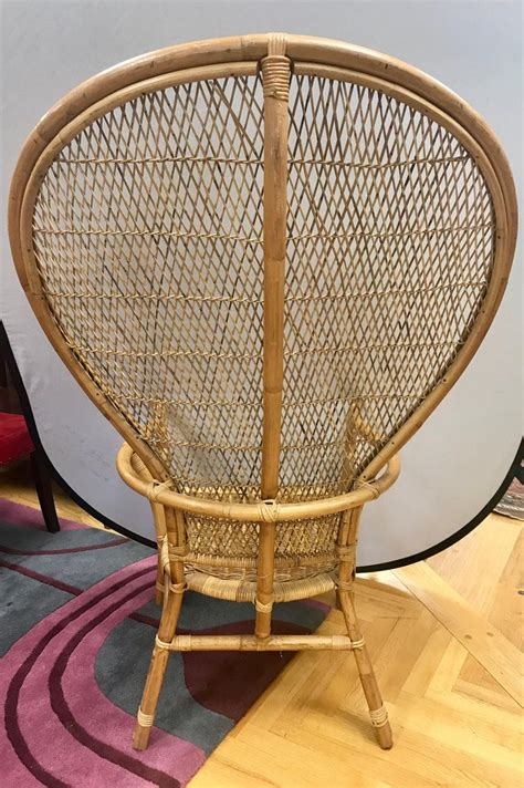 Vintage mcguire rattan bamboo 3 piece set excellent condition. Mid-Century Modern Wicker Rattan Peacock Chair For Sale at ...