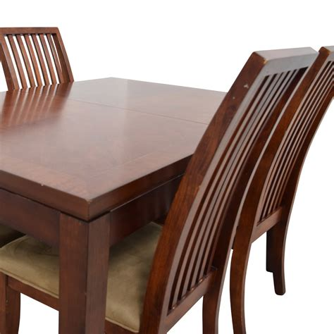 Wood Dining Sets With Leaf by 74 Macy S Macy S Wood Dining Set With Extendable