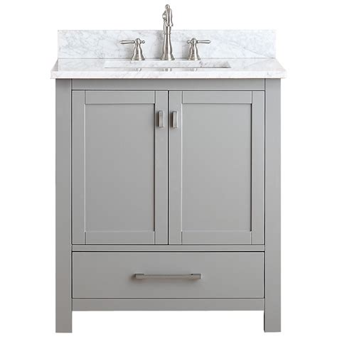 avanity modero  single bathroom vanity chilled gray