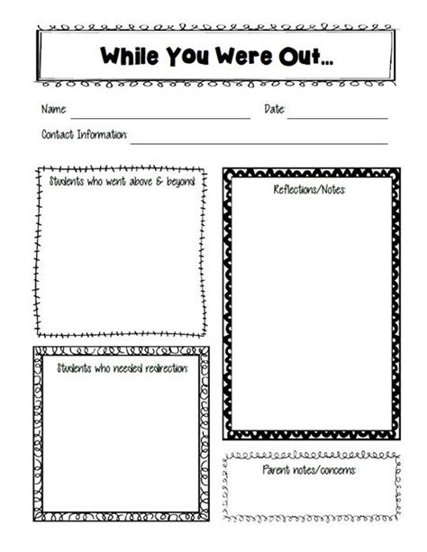 free substitute teacher forms 25 best ideas about substitute teacher forms on pinterest