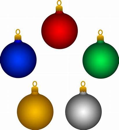 Ornament Christmas Clip Ornaments Clipart Decorations Holidays