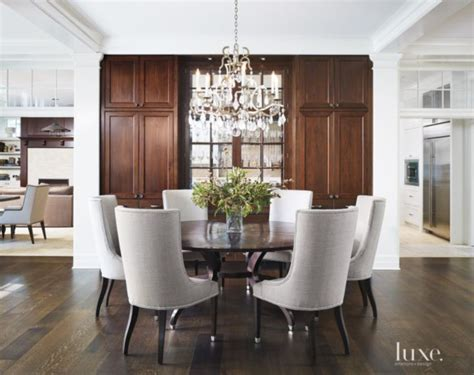 transitional white dining room  crystal chandelier luxe dining pinterest beautiful