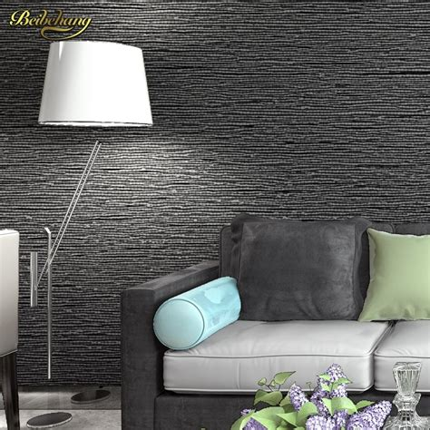3d Wallpaper Texture For Bedroom by Beibehang Wall Paper Papel De Parede Modern Classic Solid