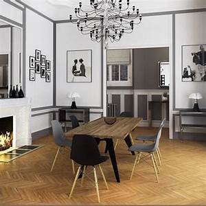 comment bien choisir et positionner des cadres aux murs With idee deco cuisine avec mobilier de salle À manger contemporain