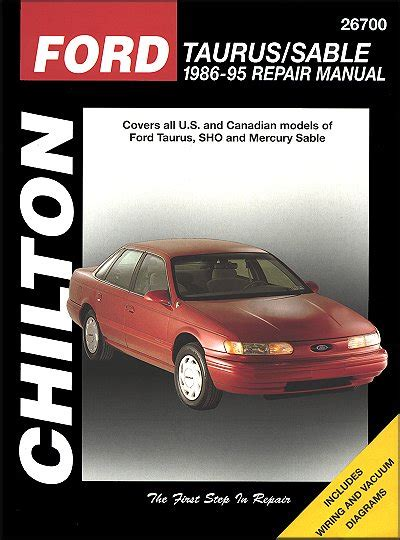 car repair manuals online free 1992 mercury sable ford taurus mercury sable repair manual 1986 1995 chilton 26700