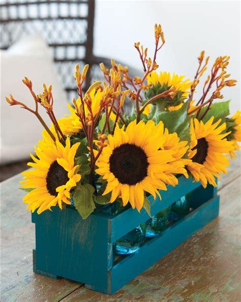sunflower kitchen decorating ideas september sunflower centerpieces southern mag