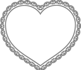 image d ustensiles de cuisine coloriage cœur avec bordure dentelle dory fr coloriages