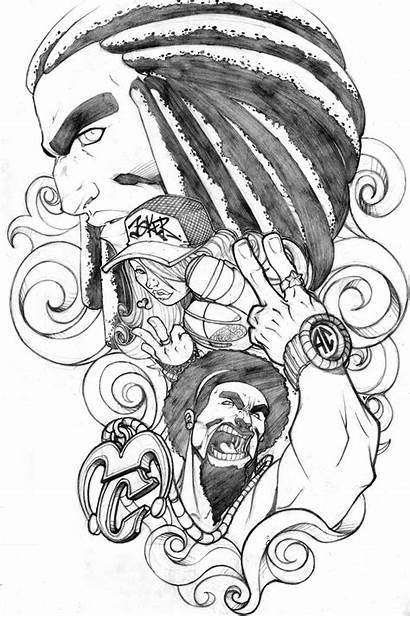 Joker Tattoo Homies Drawing Homie Cartoon Request