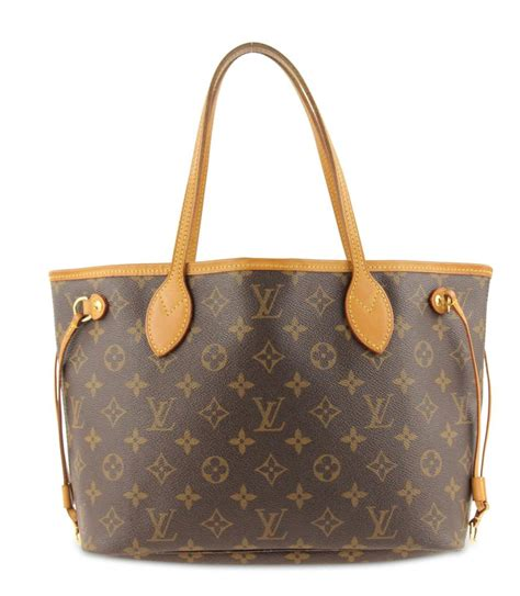 louis vuitton neverfull pm monogram brown coated canvas tote tradesy