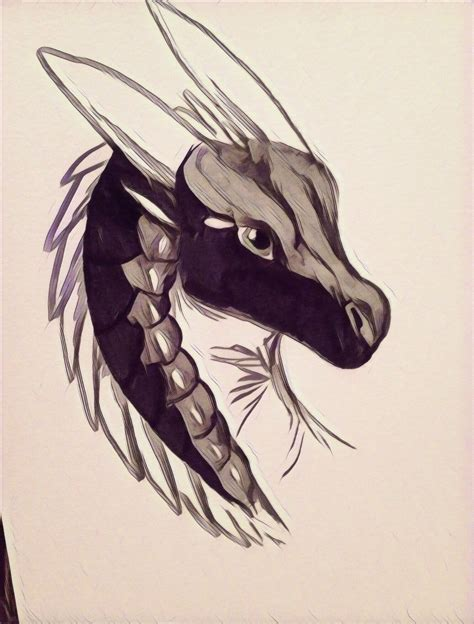 How to draw a dragon. Moonwatcher (With images) | Wings of fire dragons, Wings ...