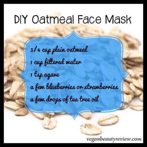 diy oatmeal face mask vegan beauty review vegan