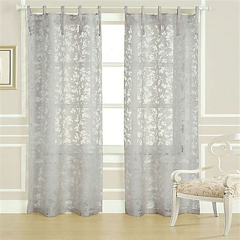Laura Ashley® Rothbury 84 Inch Burnout Window Curtain