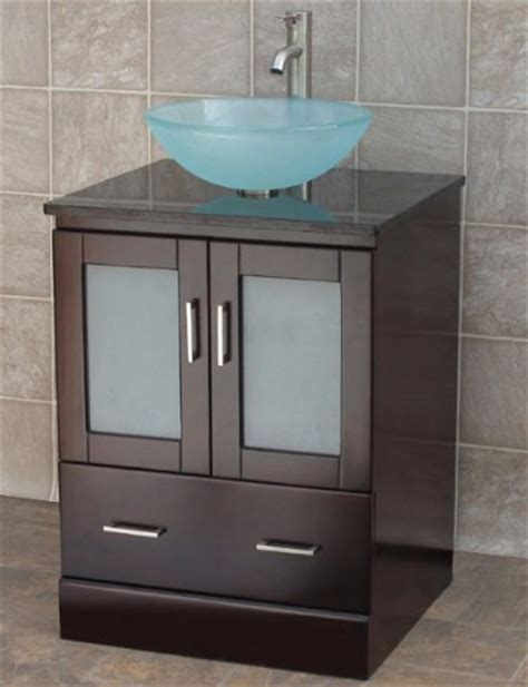 24 bathroom vanity solid wood cabinet top vessel