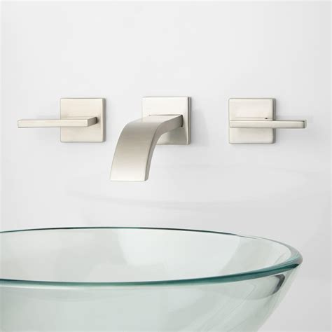 wall mount bathroom sink faucet delta wall mount lavatory faucet 24532