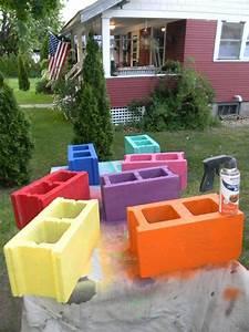 Hometalk Cinder Block Bench