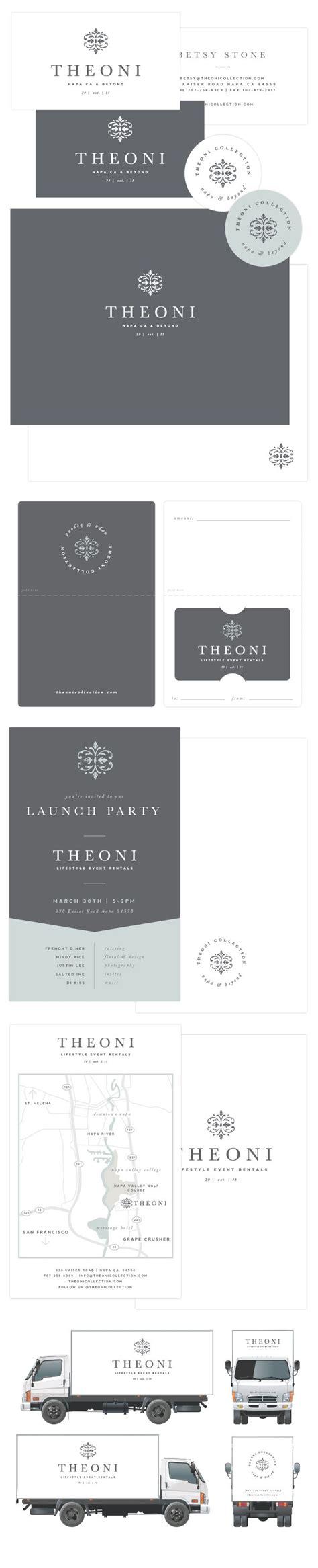 brand launch theoni  images identity design