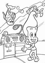 Jimmy Neutron Coloring Pages Nickelodeon Colorir Children Pintar Characters Desenhos Cartoon Drawings Para Desenho Monitor Printable Books Paper Parents sketch template