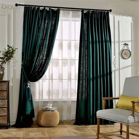 emerald green curtains emerald green solid linen pinch pleated hotel curtains